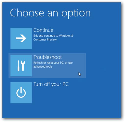 طريقة الدخول إلى الوضع الآمن Safe Mode في Windows 8 81
