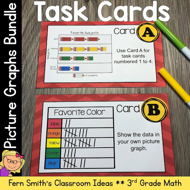 Download This Use and Make Picture Graphs Task Cards BUNDLE to Use in Your Classroom Today!