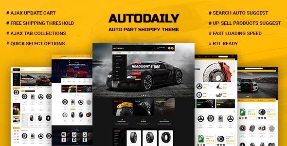 Best Auto Parts & Car Accessories Store Shopify Theme