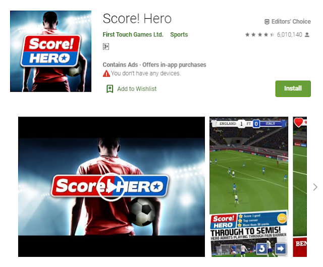 Score! Hero Game Bola Online Terbaru 2019