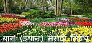 Garden Essay in Marathi Language