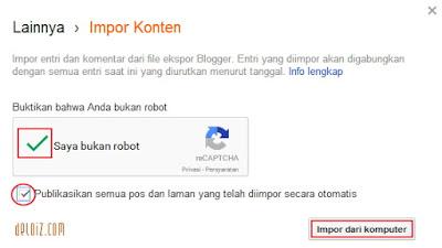 impor konten blog