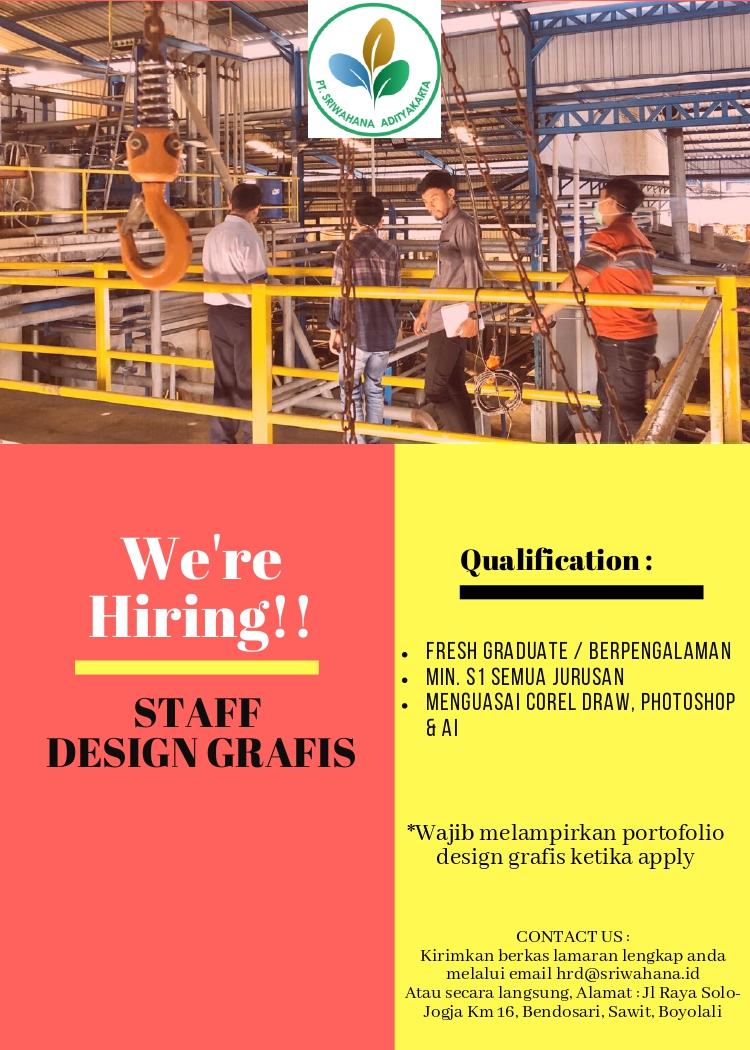 Lowongan Kerja Pt Sriwahana Adityakarta Tbk Membuka Lowongan Kerja Pada Posisi Staff Design Grafis Loker Swasta
