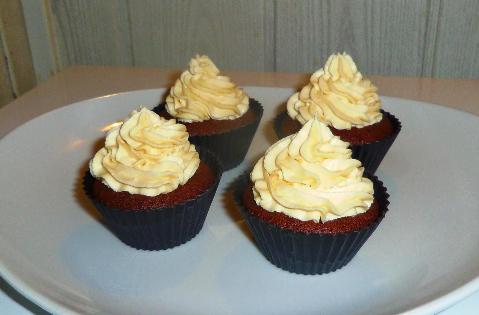 cupcakes, cupcakes chocolat, crème caramel, recette avec du mascarpone, recette avec du mascarpone et du chocolat