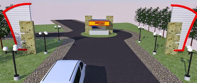 desain Gerbang Perumahan