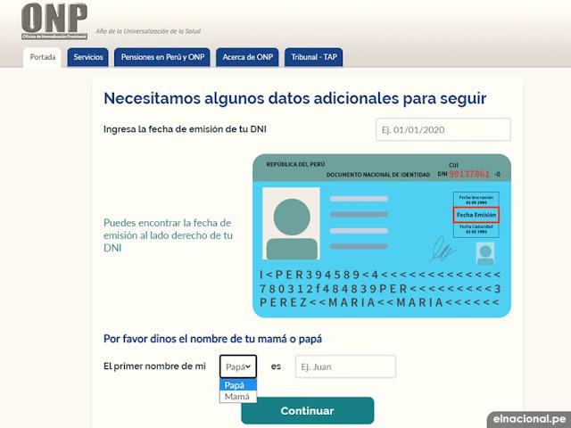 ¿Cómo crear mi clave virtual de la ONP?, ingresa fecha de emisión de DNI