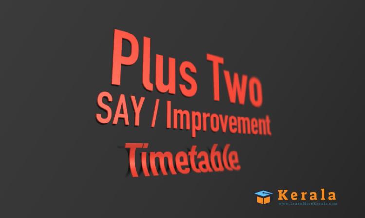plus two improvement timetable 2021