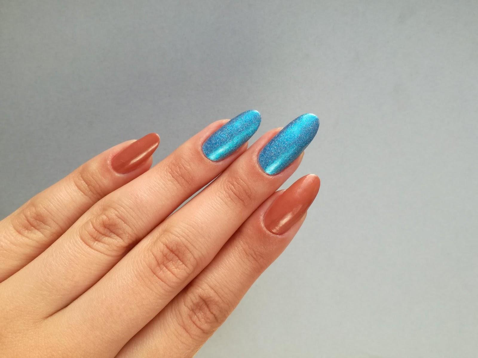paznokcie dwa kolory