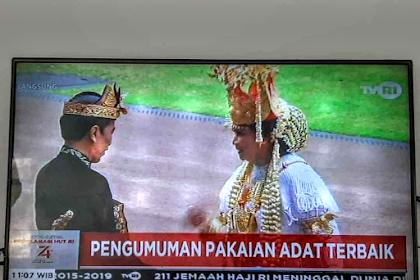 Lampung Busana Terbaik Upacara HUT Kemerdekan RI Ke 74