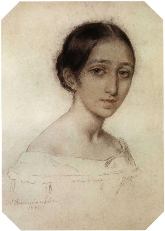 Венецианов Алексей Гаврилович Портрет девушки