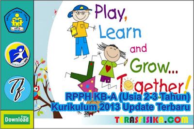 RPPH KB A 1 Lembar Usia 2-3 Tahun