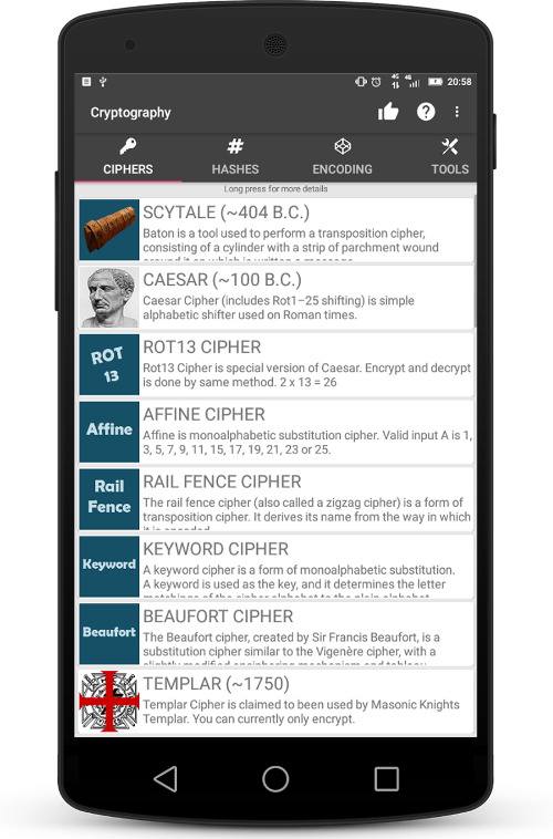 Cryptography (Collection of ciphers and hashes) v1.6.7 Unlocked MOD Apk Is Here | PiratedHub