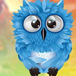 G4K Cute Blue Owl Escape