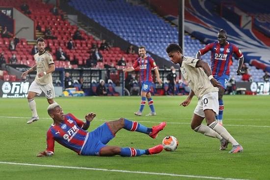 اهداف مباراة مانشستر يونايتد وكريستال بالاس 02 فى الدورى الانجليزى 16-7-2020