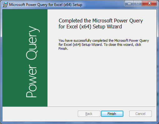 Install Add-in Power Query