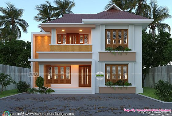Cute modern home front view design