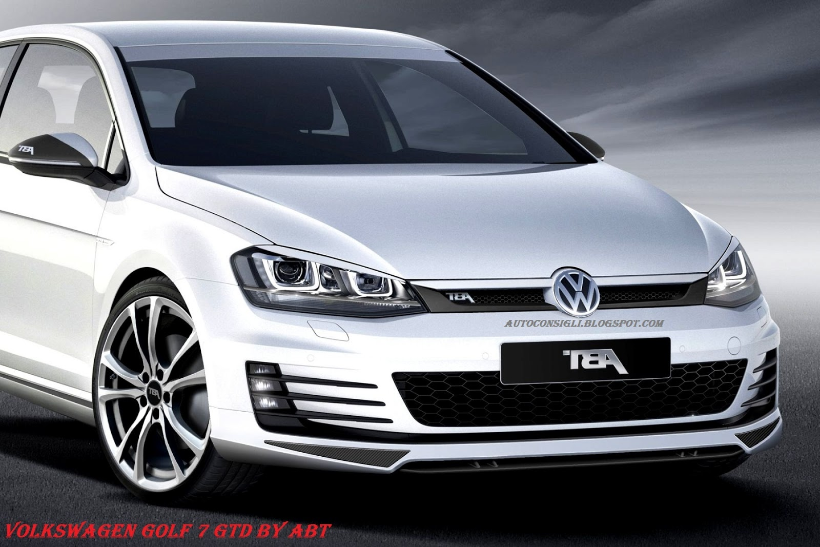 car al top 33 volkswagen golf 7 gtd elaborata dal tuner tedesco abt. Black Bedroom Furniture Sets. Home Design Ideas