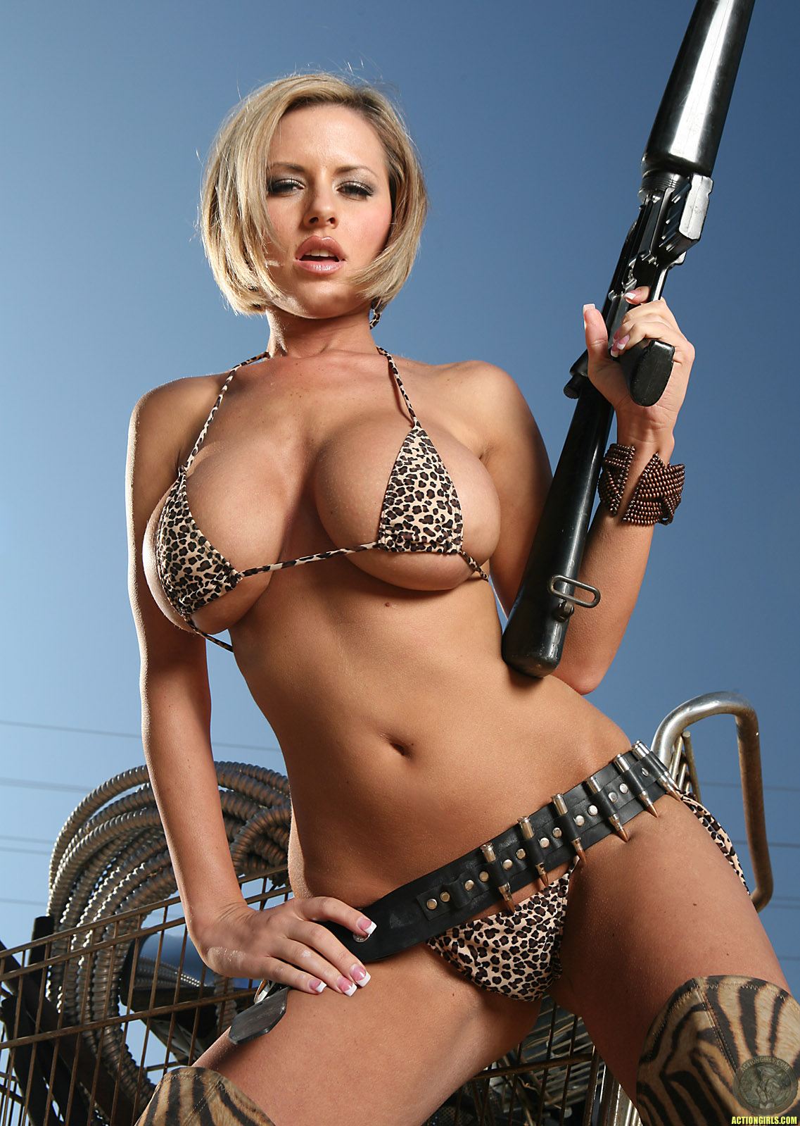 Sexy girl with guns porn think