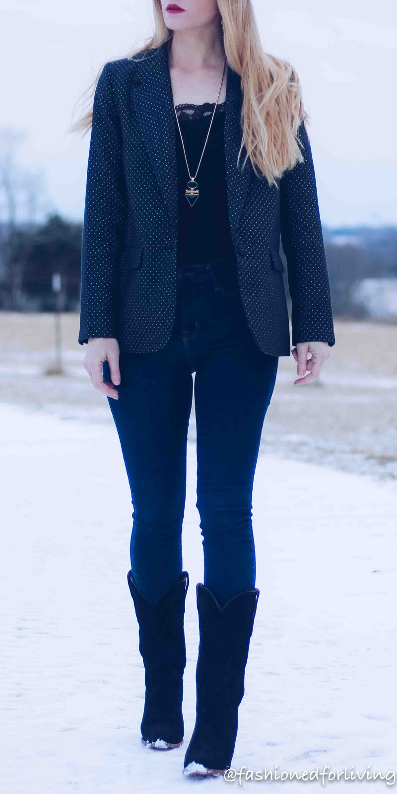 womens blazer and jeans outfit