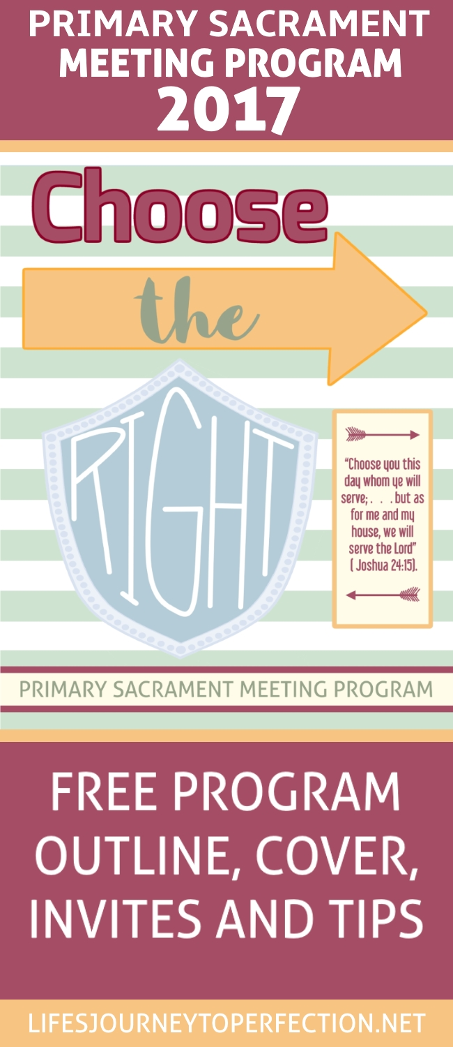 Life's Journey To Perfection: 2017 LDS Primary Sacrament Meeting