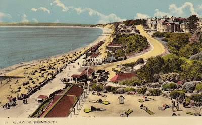 Postcard of Alum Chine, Bournemouth. Printed by Deardon & Wade Bournemouth.Postally unused. Undated