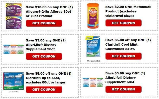 PRINT Claritin, Allerlife, Allegrai, or Matamucil coupons