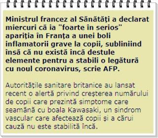 simptome boala inflamatorie grava la copii in europa