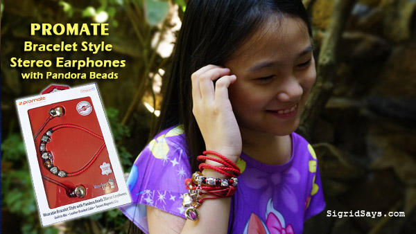 Promate Bracelet Style earphones - pandora beads