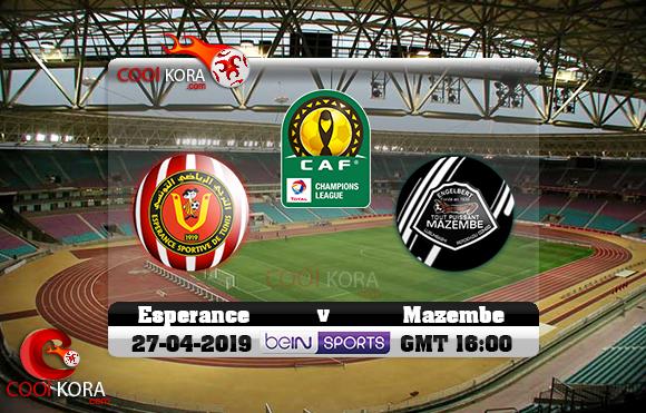 مشاهدة مباراة الترجي ومازيمبي اليوم 27-4-2019 دوري أبطال أفريقيا