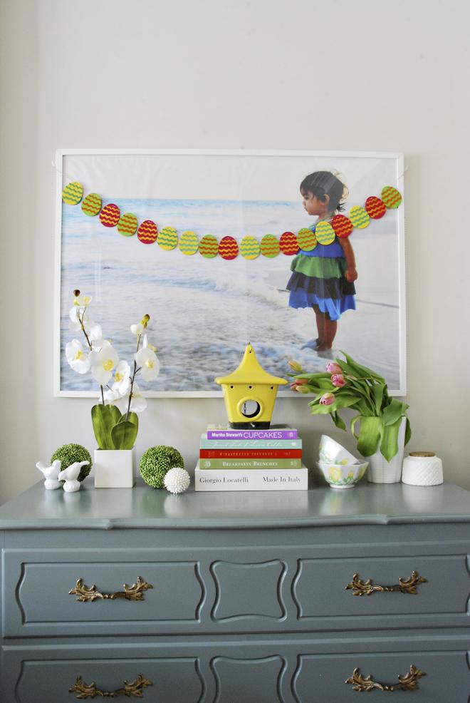 ideas for spring decor, DIY spring decor, spring vignette, spring accessories