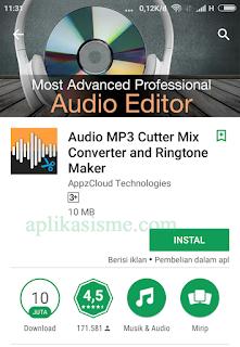 Cara potong rekaman suara di android