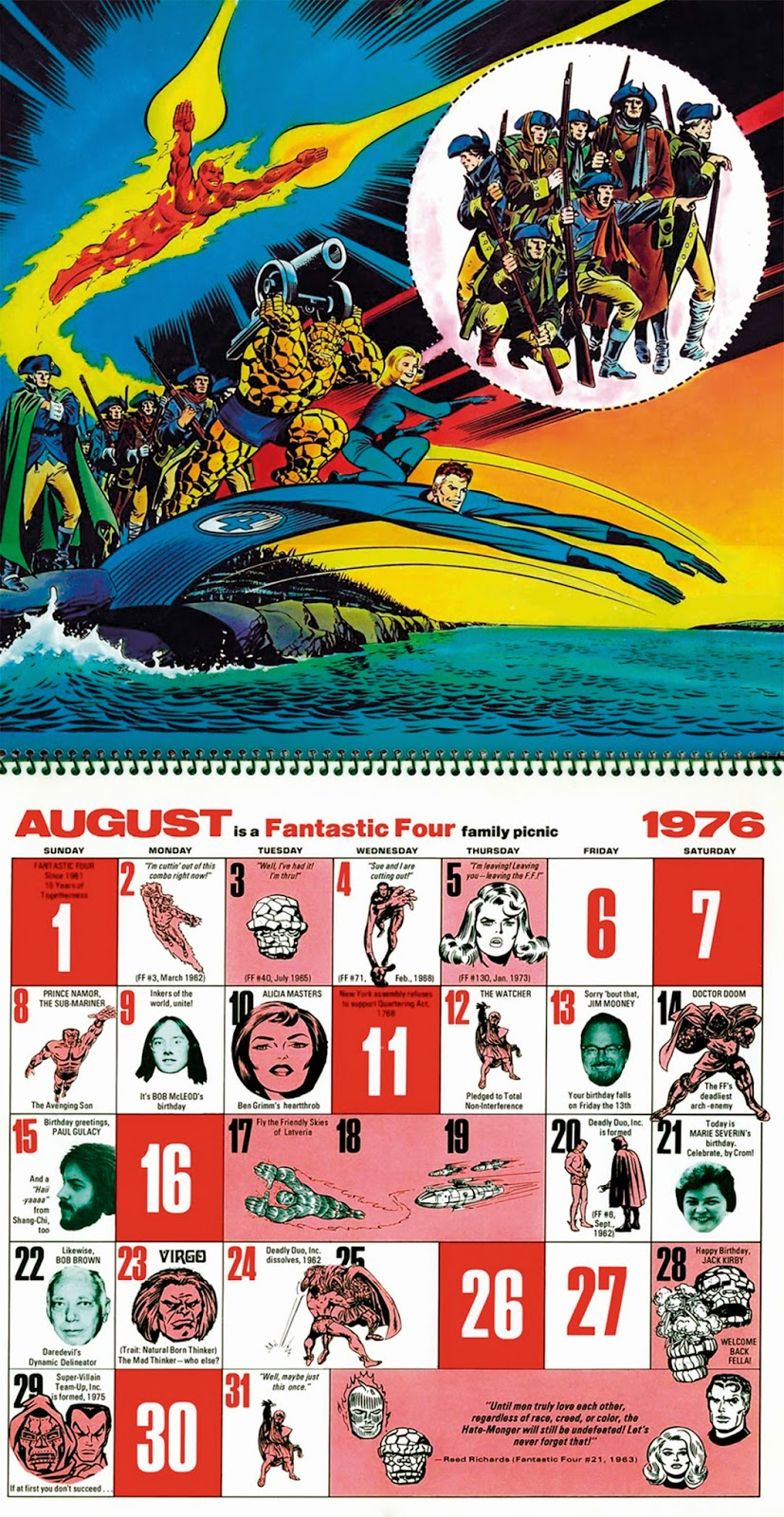His Name Is Studd 1976 The Mighty Marvel Bicentennial Calendar