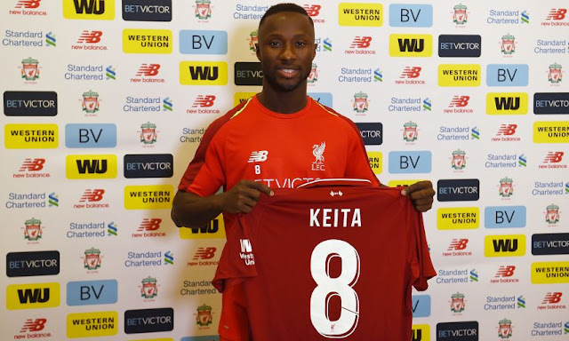 Liverpool officially announce the signing of Naby Keita