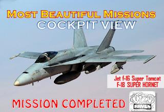 Beautiful Mission F-16 Super Tomcat And F-18 Super Hornet