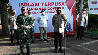 Panglima TNI Bersama Kabaharkam Polri Dan Kepala BNPB, Tinjau Isolasi Rumah Dinas Walikota Semarang