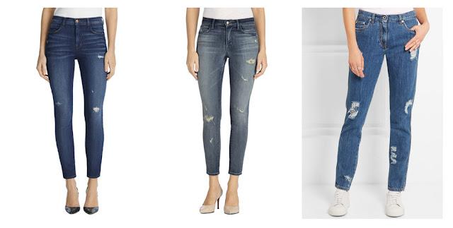 Девушки в рваных джинсах