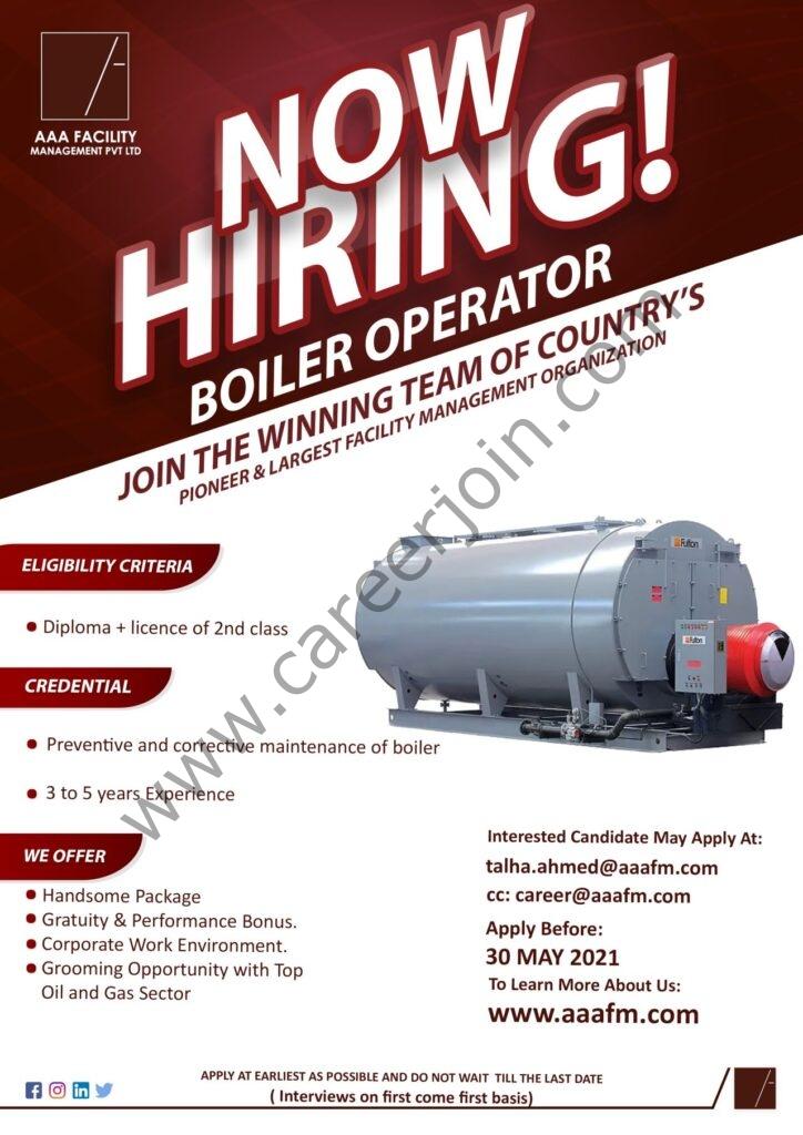 AAA Facility Management Pvt Ltd Jobs 2021 in Pakistan