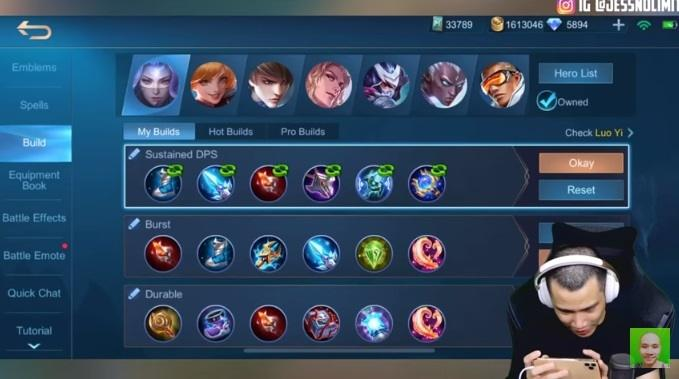 6 items Best Build Luo yi Mobile Legends From Jess No Limit