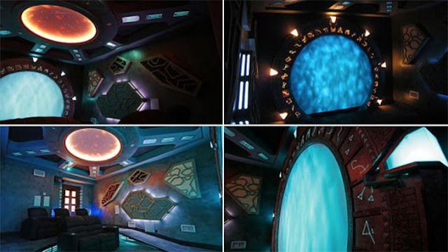 UFO theme basement remodeling ideas