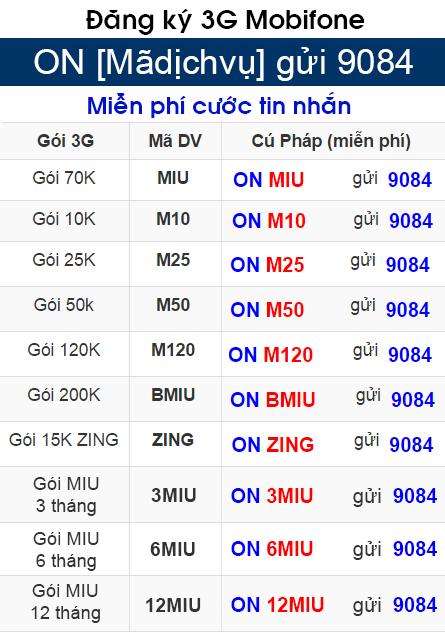 Hướng dẫn hủy 3G gói cước M10 Mobifone