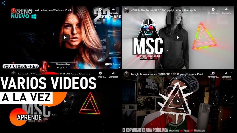 Ver Varios Videos de Youtube en una Pantalla   Mosaico de Videos