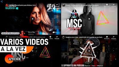 Ver Varios Videos de Youtube en una Pantalla | Mosaico de Videos