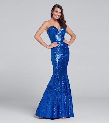 sparkle mermaid prom dress