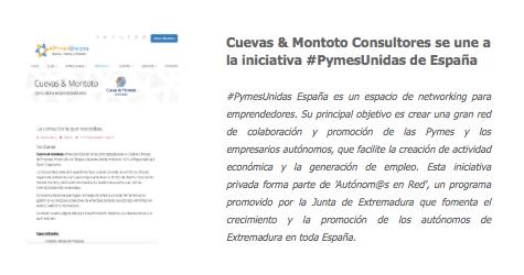 Acuerdo de colaboración con #PymesUnidas de España.