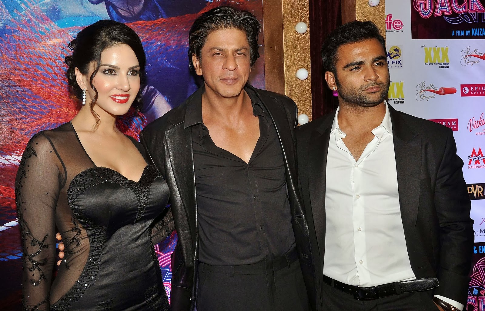 Photos of Sunny Leone with SRK