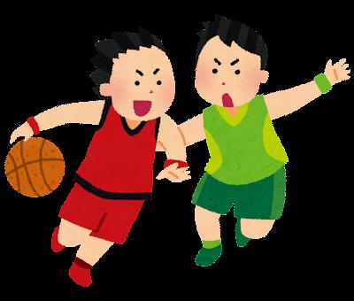 男子バスケットボールのイラスト