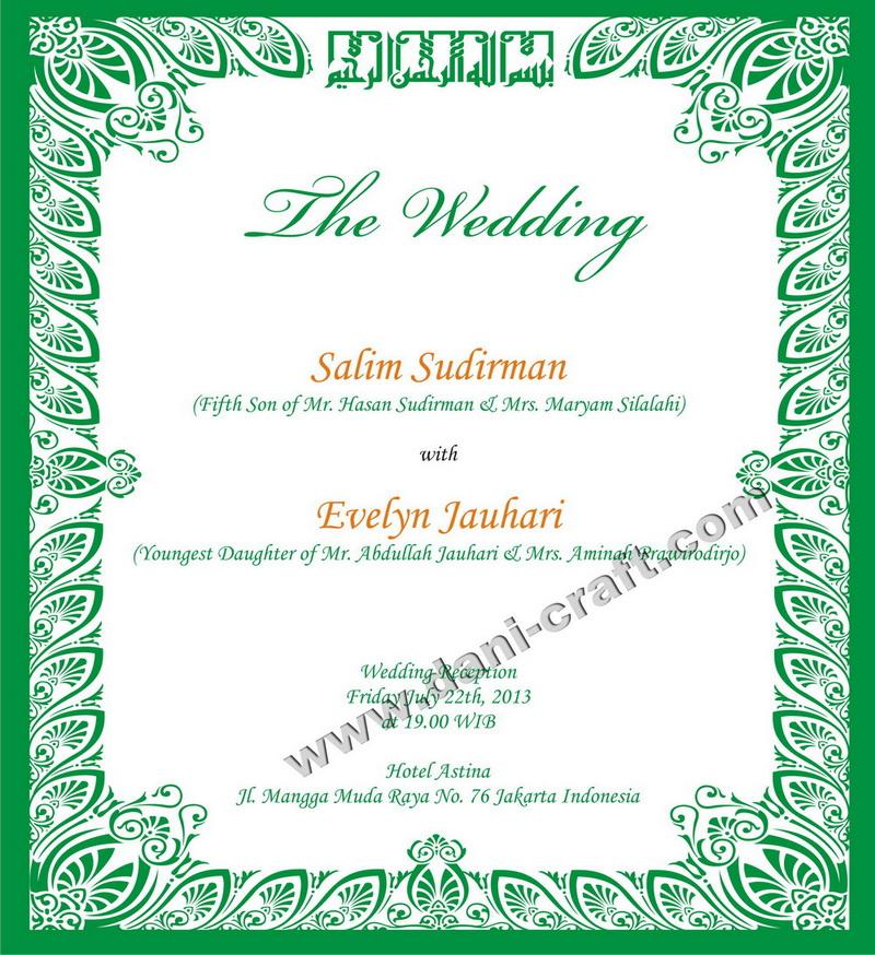 Undangan Bahasa Inggris Undangan Pernikahan Bahasa Inggris Kata