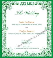 Undangan Pernikahan Dalam Bahasa Inggris Formal Undangan