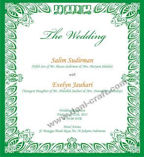 Kumpulan Contoh Undangan Pernikahan Dalam Bahasa Inggris