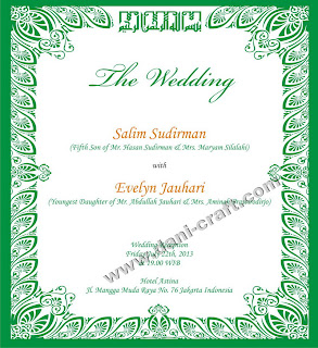 Undangan Bahasa Inggris Souvenir Pernikahan